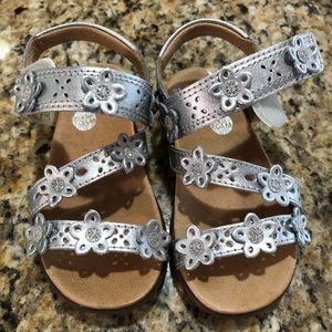 Stride Rite Silver Toddler Sandals
